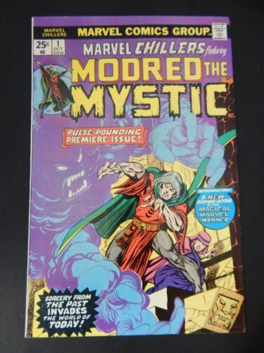 Marvel Chillers Ft Modred The Mystic 1975 #1 Marvel Comics Group FREE SHIPPING