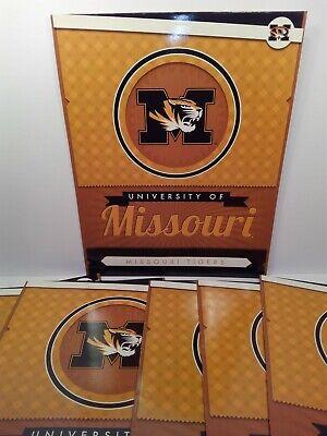 8 University Of Missouri Tigers Laminated Two-pocket Folders Cardboard Paper