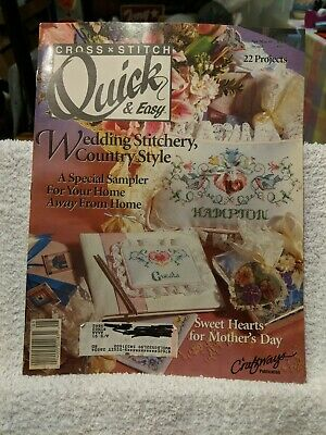 Cross Stitch Quick Easy Magazine 1991 Wedding Country Home Mothers Day Patterns](Easy Mother's Day Crafts)