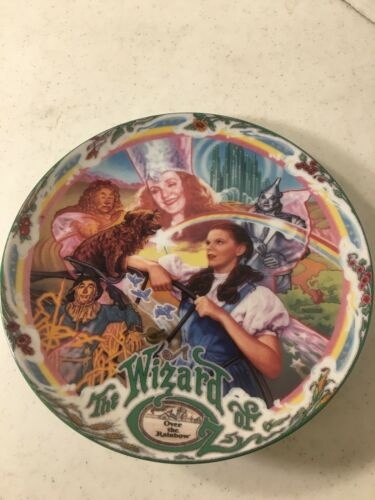 Vintage Wizard Of Oz 7 5/8 Inch Over The Rainbow Musical Collector Plate Knowles
