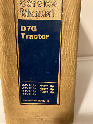 Caterpillar Cat D7g Tractor Service Manual