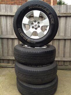 Nissan Navara 16 inch wheels with tyres