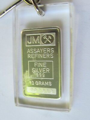 1 Extremely Rare Jm 10 Gram Silver Bar Made By Johnson Matthey Old English Back