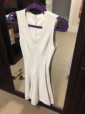 Alaia White Sleeveless Laser Cut A Line Dress Size 38 Italian