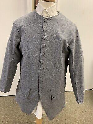 Mid-18th Century, Rev War Man's Frock Coat, GREY WOOL, 42