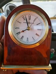 Howard Miller Arch Table Alarm Clock Model 613-487 Works Perfectly
