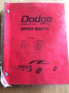 1969 Dodge Mopar reproduction repair manual