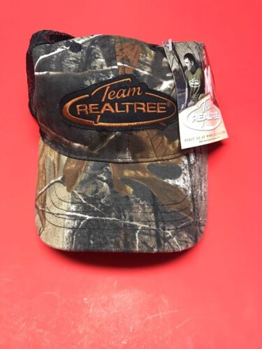 Team RealTree Patch Camouflage Summer Ball Cap Embroidered Black Or/Camo New