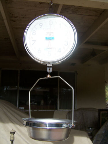 CHATILLON 30 LBS HANGING FRUIT PRODUCE SCALE WITH PAN - TYPE 0028