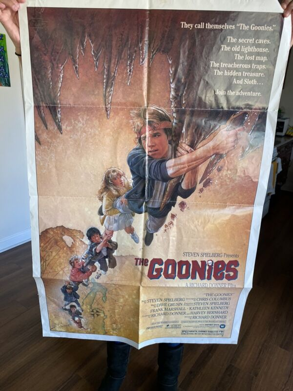 THE GOONIES US Movie Poster 29x41 1985 Richard Donner From Astoria Oregon Shop!