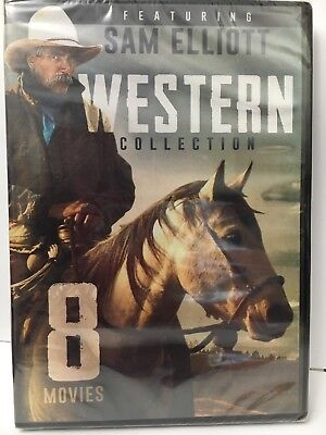 8-Movie Western Collection Sam Elliot, John Wayne, Ernest Borgnine, Gabby Hayes
