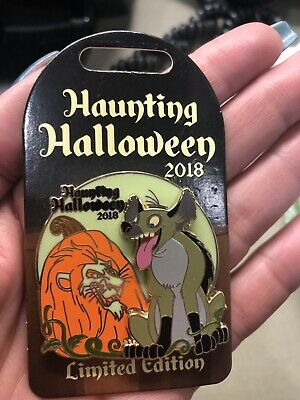 Disney Haunting Halloween 2018 Scar Hyena Pin LE 3000 Glow In The Dark Lion King