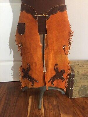 Full Grain Leather Chaps Vintage Halloween Costume Western - Halloween Chaps