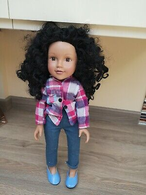 Beautiful Black Curly Haired DESIGN a Friend Doll