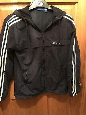 adidas windbreaker jacket, Navy, Size Small, 3 Stripes.
