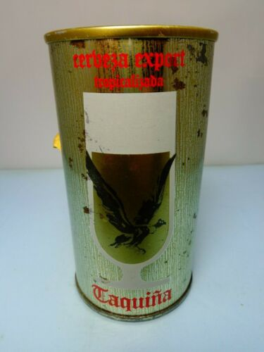 TAQUINA CERVEZA EXPORT STRAIGHT STEEL PULL TAB BEER CAN #245