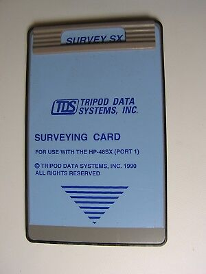 Tds Survey Sx Surveying Card For Use With The Hp-48gxsx