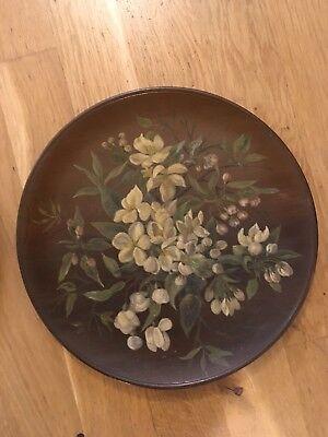 19th Century Painted Ceramic Plate J. Hutchinson 17 cm