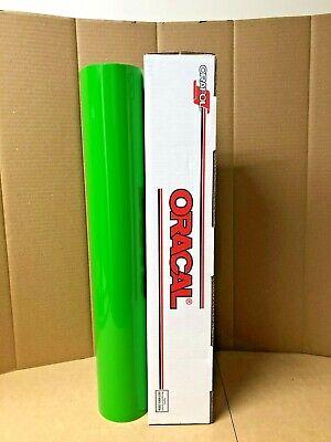 Oracal 651 1 Roll 24 X 10yd 30ft Yellow Green 064 Gloss Sign Vinyl
