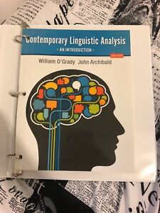 Contemporary Linguistics Analysis: An Introduction