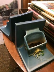 Roseville pottery planter/vase bookends
