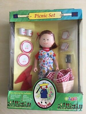 """Retired Eden 8"""" Madeline Doll Picnic Set Complete With Accessories Mint NIB"""