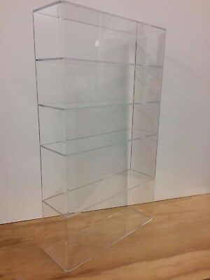 Acrylic Lucite Countertop Display Case Showcase Box Cabinet 14w X 4 14 X 24h