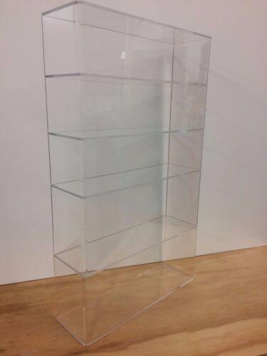 "Acrylic Lucite Countertop Display Case ShowCase Box Cabinet 14""w x 4 1/4"" x 24""h"