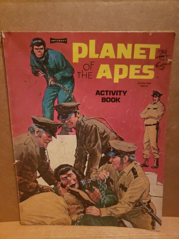 1974 Planet of the Apes ACTIVITY Coloring Book - Artcraft C3031 See Description