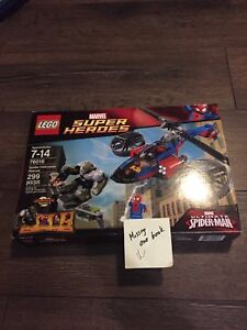 Lego 76016  super heroes spider man helicopter rescue set