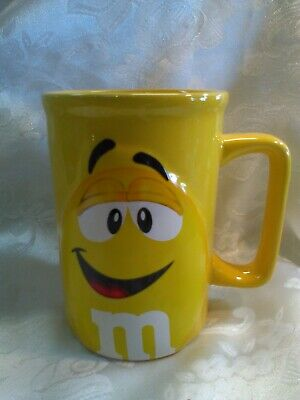 M&M Peanut Coffee Mug Cup Character Face Official Licensed Product Yellow](Peanuts Characters Merchandise)