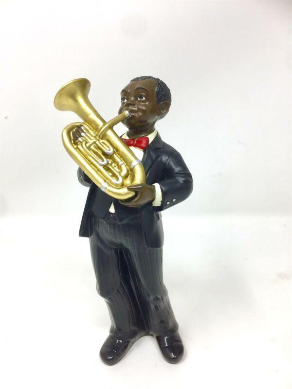 Baritone Player Figurine Sculpture Jazz Blues Musician Brass Statue