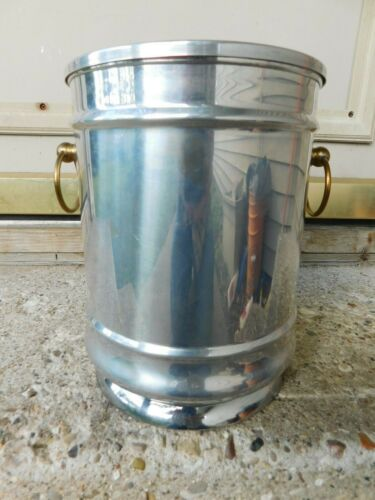 RARE MID-CENTURY ERNEST SOHN CREATIONS CHAMPAGNE BOTTLE ICE BUCKET W/TAGS