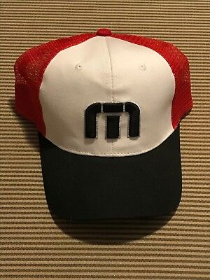 purchase cheap a540f f1804 New Travis Mathew Hat Red White and Black one size fits all golf snapback  casual
