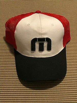 purchase cheap 289e5 784bf New Travis Mathew Hat Red White and Black one size fits all golf snapback  casual