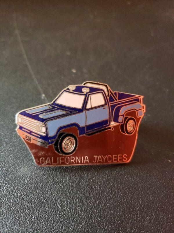 1981 California Jaycees Lapel Hat Pin Blue Truck