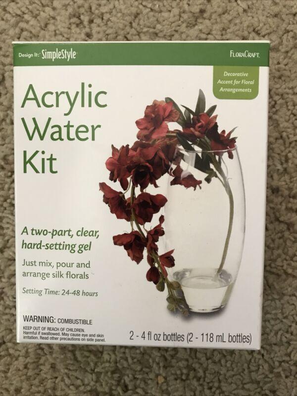 FLORACRAFT ACRYLIC WATER KIT DECORATIVE ACCENT FOR FLORAL ARRANGEMENTS