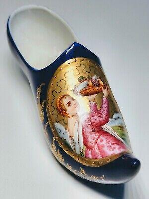 19th Century Women Shoes (19th Century Hand-Painted Portrait Woman Holding Fruit Porcelain Decorative)