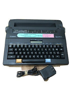 Canon Typestar-2 Vintage Portable Electricbattery Typewriter With Cover