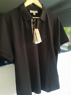 Burberry Polo Shirt In Black Size Medium