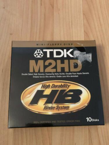 Tdk M2hd Mini Floppy Disk Double Sided High Density Box Of 10 Sealed