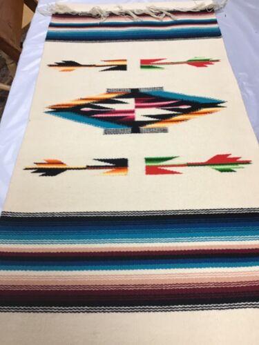 Hand Woven Chimayo Arrow Wool Wall Hanger