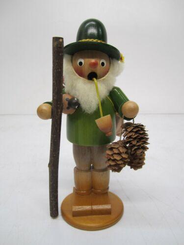 Vtg Steinbach Smoker Mushroom Picker Hiker Figurine Incense Burner Germany