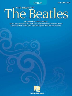 Best of The Beatles Violin Solo Sheet Music 92 Pop Songs Hal Leonard