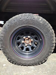 """Tires and rims. 17"""" 8"""" wide"""