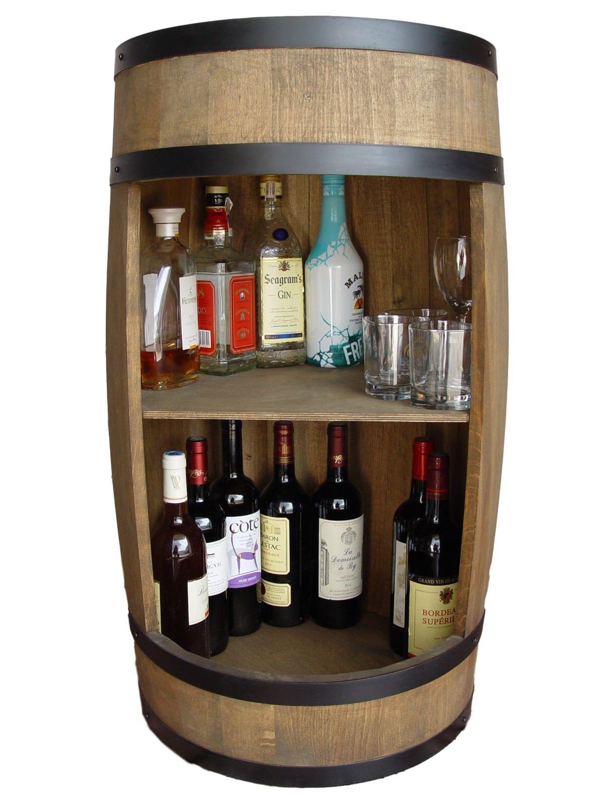 Fass Weinregal, Hausbar, Holz Fassbar 81cm, Weinschrank - Hersteller!