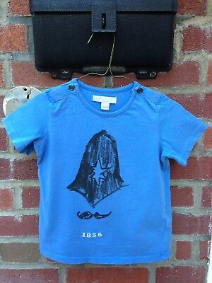 🇬🇧3T Years Authentic Burberry Baby Boy Shirt Tops Cotton Blue Children Toddler