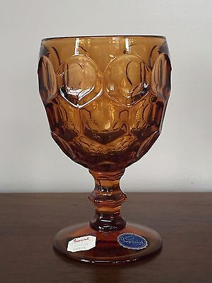 Vintage Imperial Glass PROVINCIAL AMBER Water Goblet