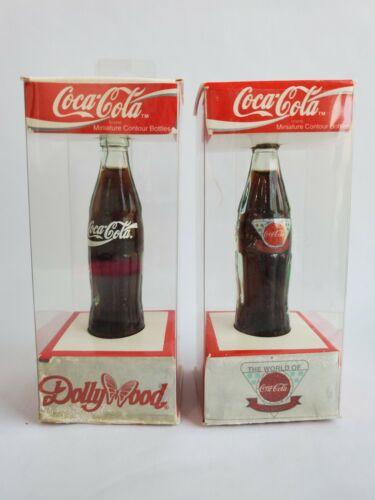 Coca -Cola Miniature Contour Bottle Lot Dollywood / Atlanta NIB