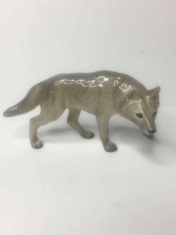 Vintage Hagen Renaker Miniature Grey Wolf Rare